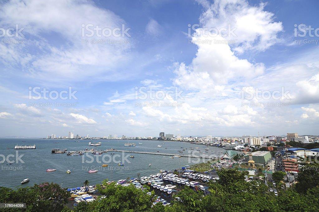 Pattaya city in Thailand royalty-free stock photo