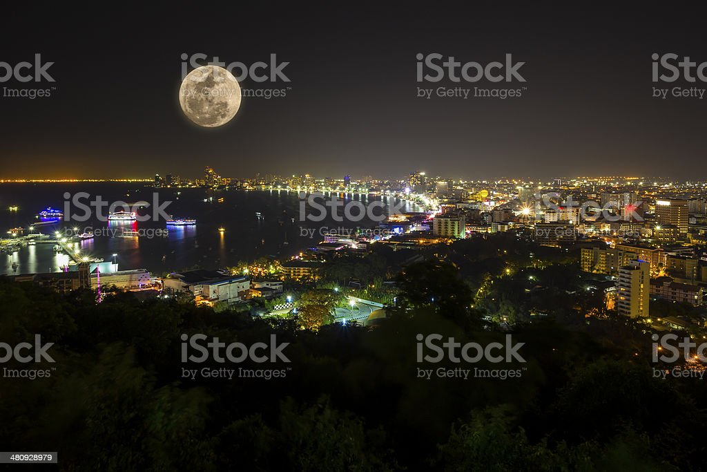 Pattaya full moon Lizenzfreies stock-foto