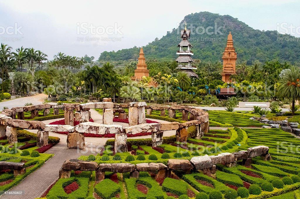 Pattaya Thailand travel Nong Nooch Tropical Garden stock photo