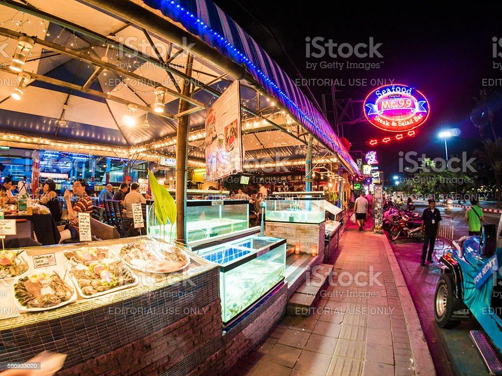 Pattaya Walking Street in Thailand stock photo