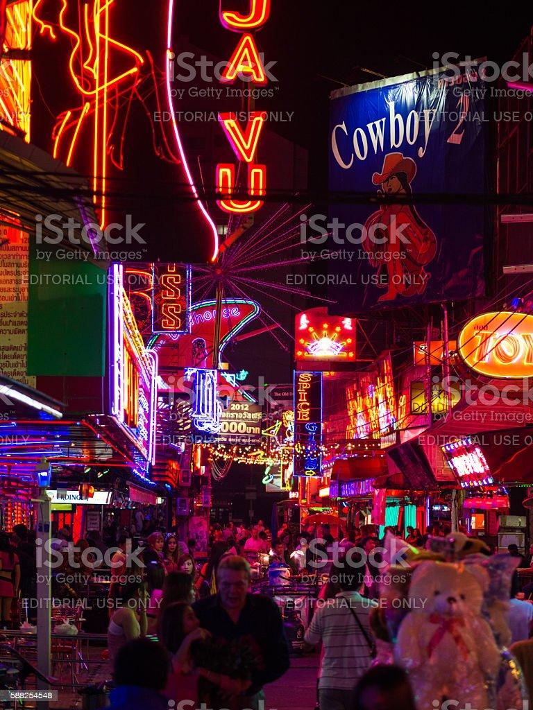 Pattaya Walking Street stock photo