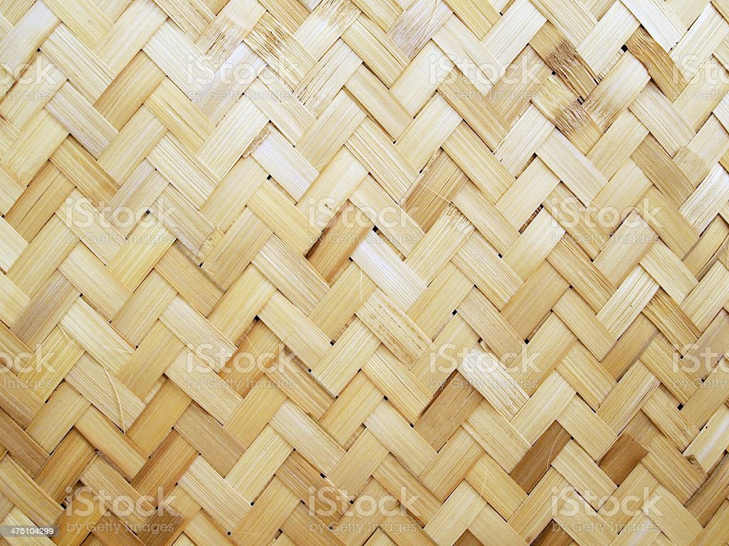 Pattern and design of Thai style bamboo handcraft royalty-free stock photo