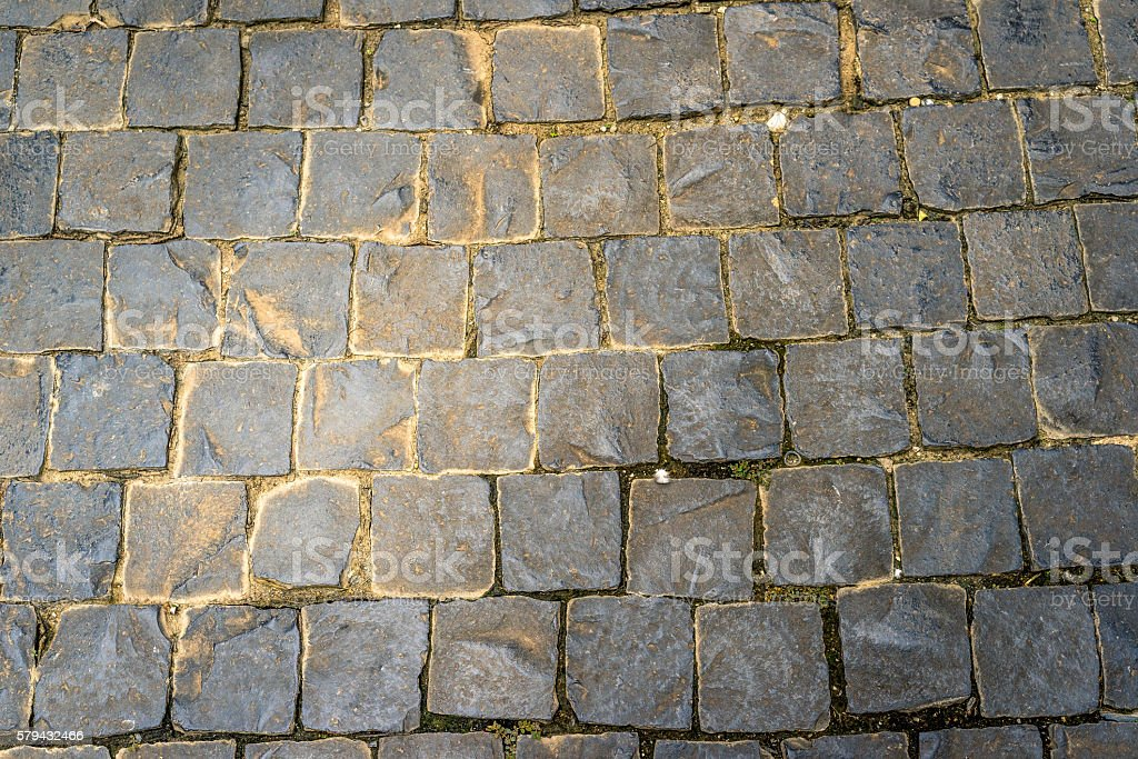 Pattern and texture of cobblestone floor photo libre de droits