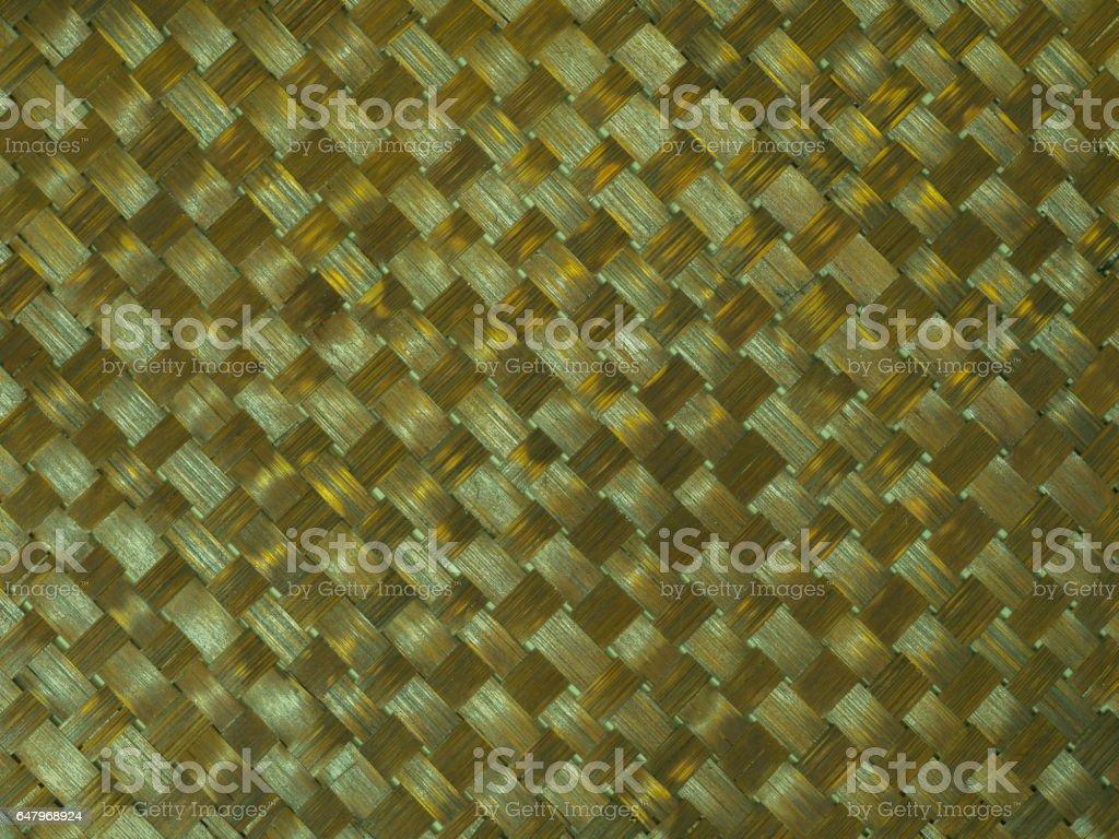 Pattern background of brown handicraft wood weave