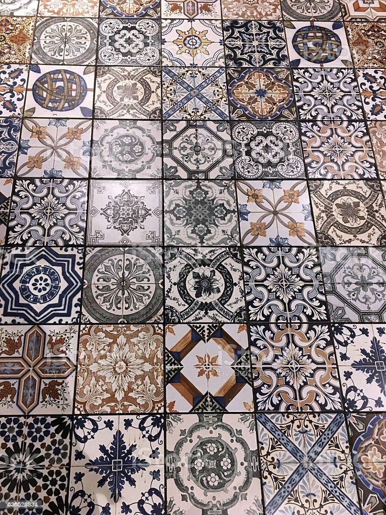 Pattern Ceramic tiles a mosaic stock photo