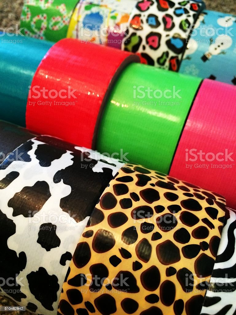 pattern duct tape stock photo