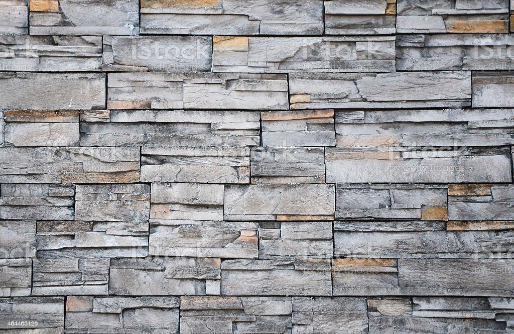 Pattern gray stone wall decorative stock photo