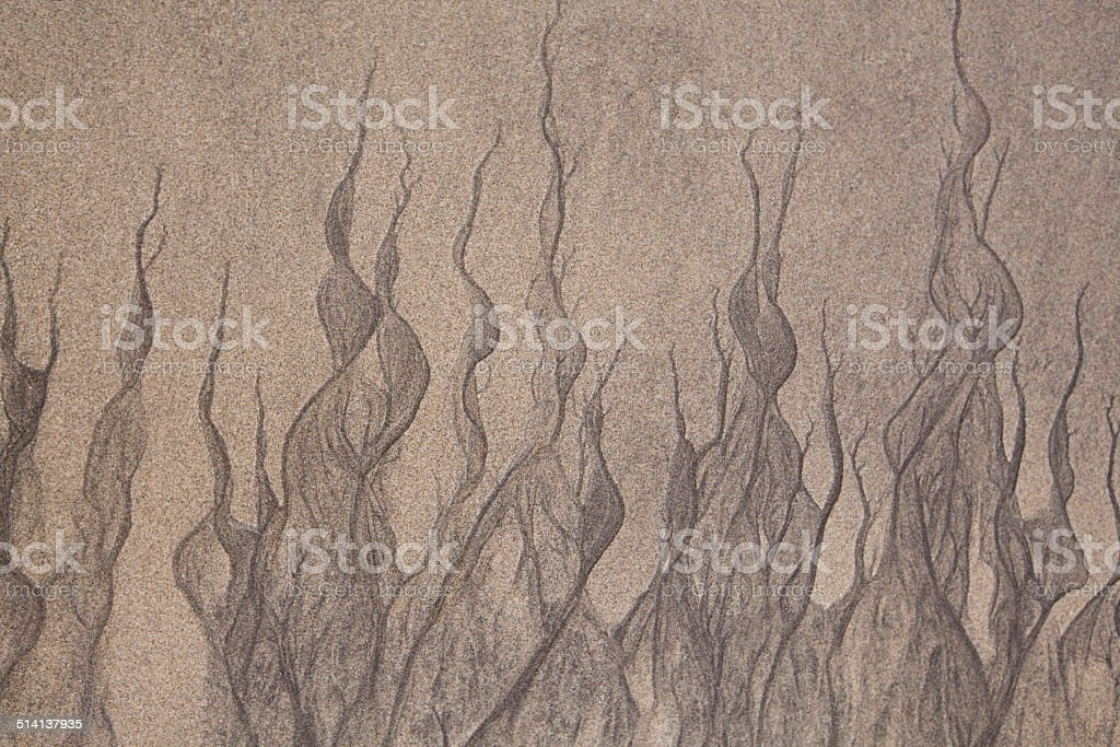 Pattern in the sand beach at low tide royalty-free stock photo
