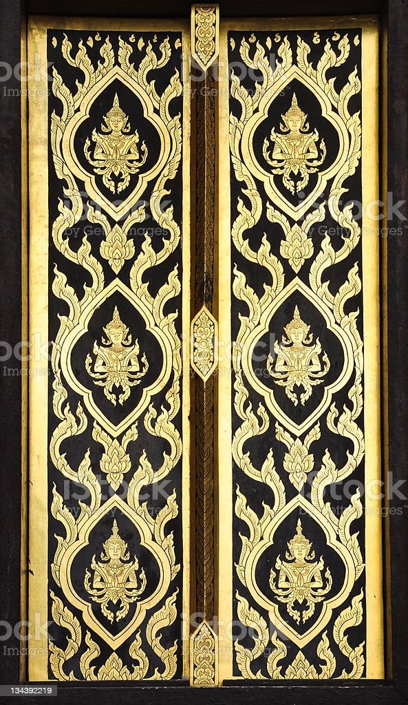 pattern in traditional Thai style art royalty-free stock photo