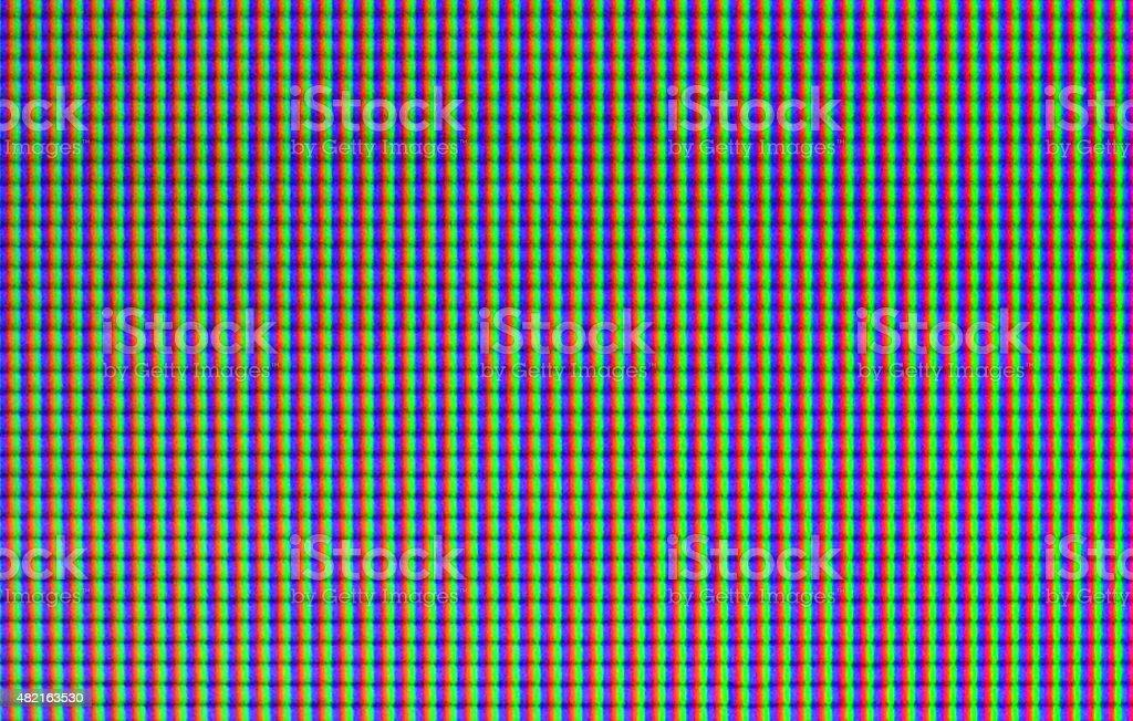 RGB pattern - LCD pixel macro stock photo
