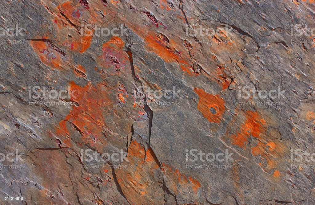 Pattern of a stone plate in gray and orange royalty-free stock photo