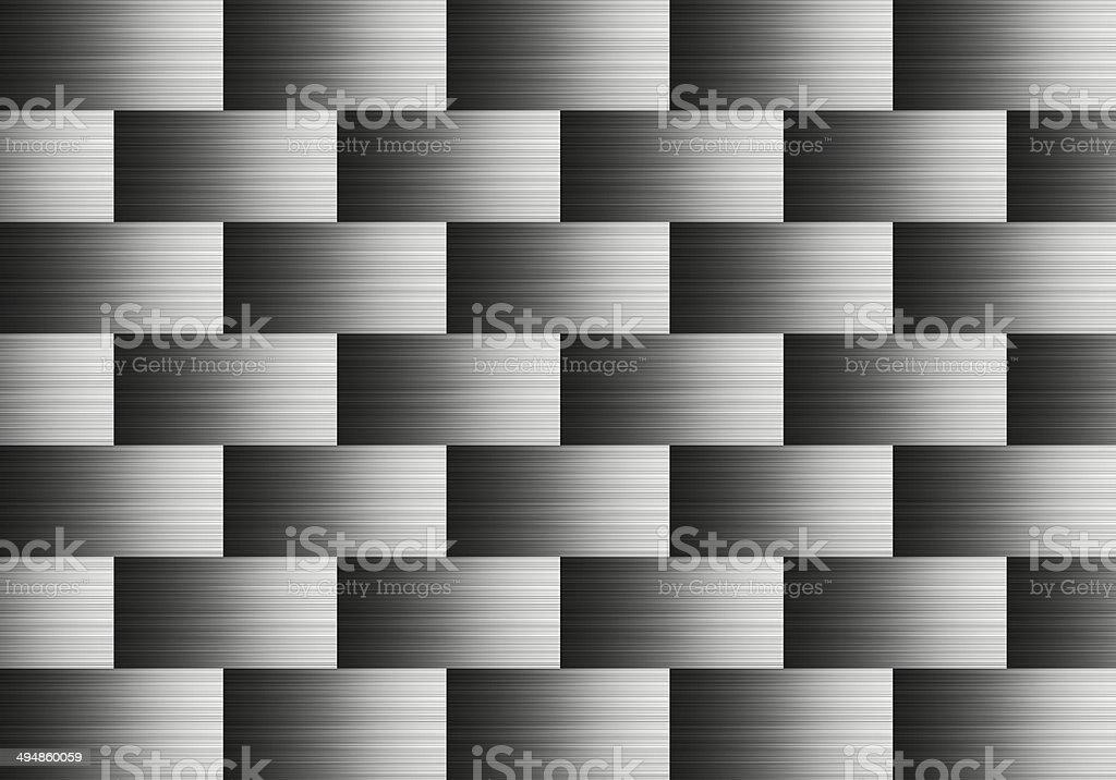 Pattern of aluminum stock photo