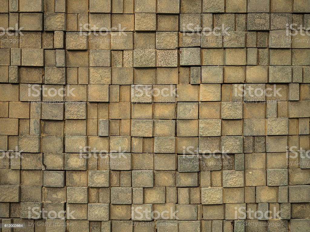 Pattern Of artificial stone stock photo