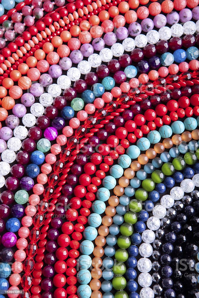 Pattern of beads. royalty-free stock photo