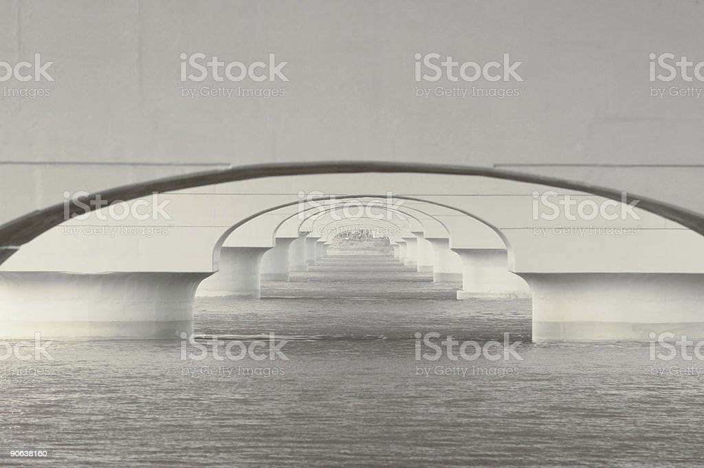 Pattern of Bridge royalty-free stock photo