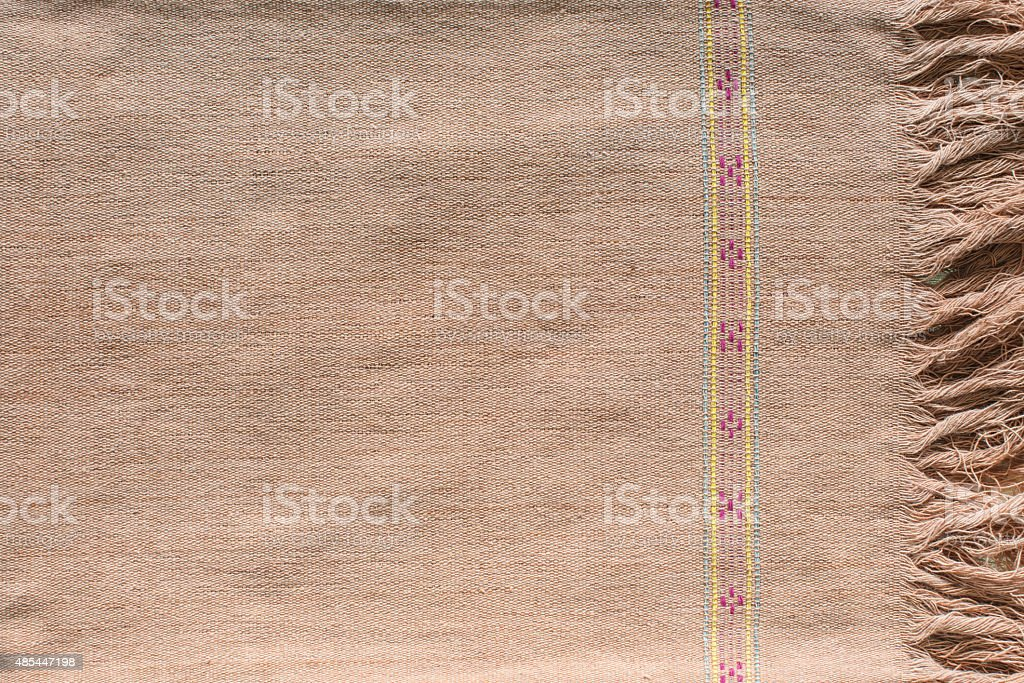 pattern of cloth. handmade by Karen royalty-free stock photo