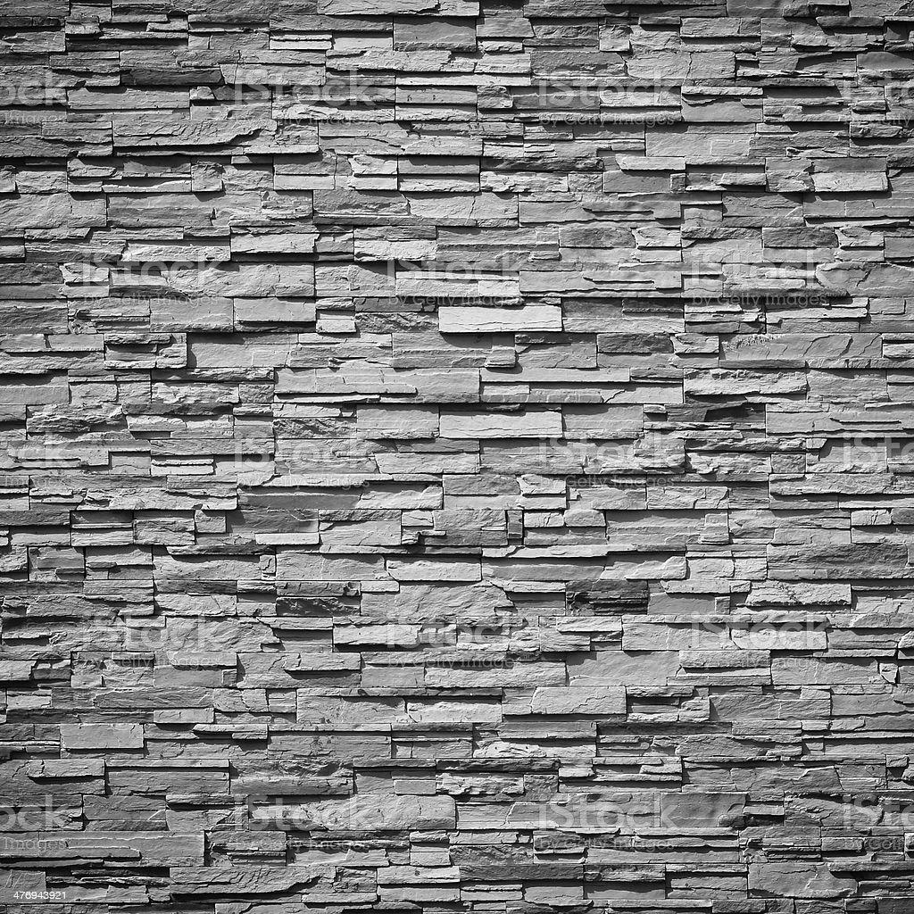 pattern of decorative slate stone wall surface stock photo