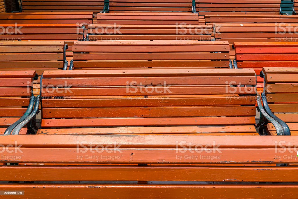 Motif de lignes horizontales de bois de bancs de musculation photo libre de droits