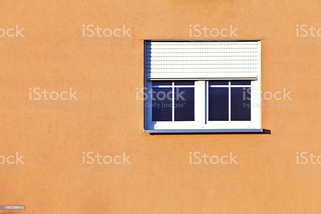 pattern of house facade with windows stock photo