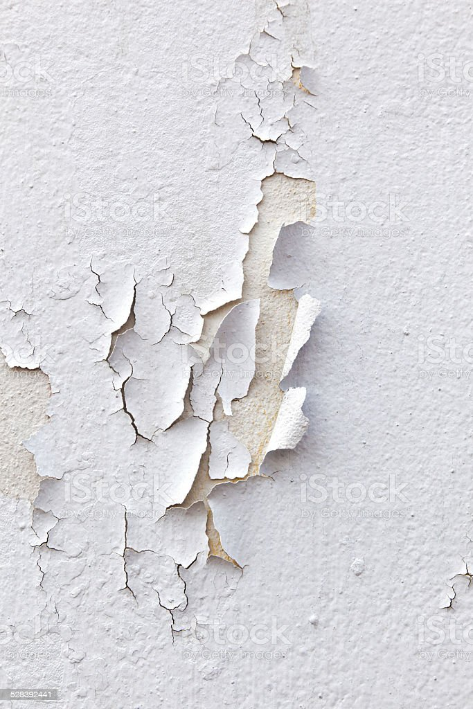 pattern of old paint at the wall stock photo