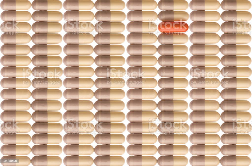 Pattern of pills royalty-free stock photo