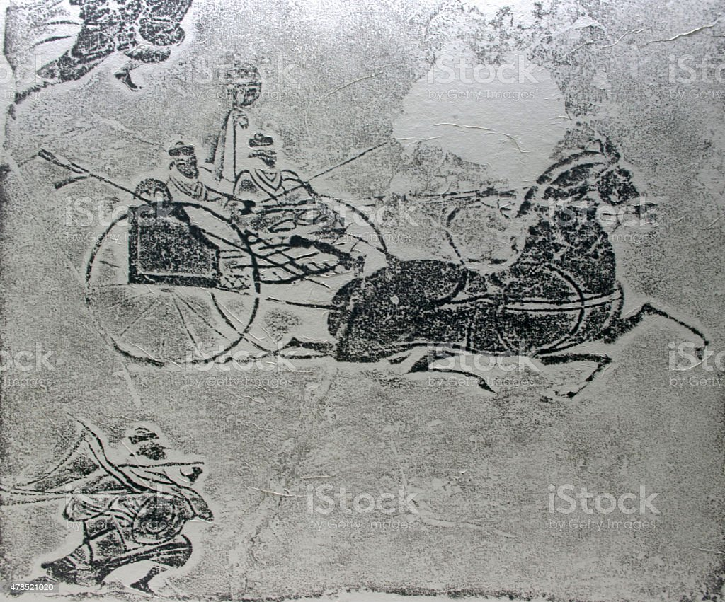 pattern of ride on horse stock photo