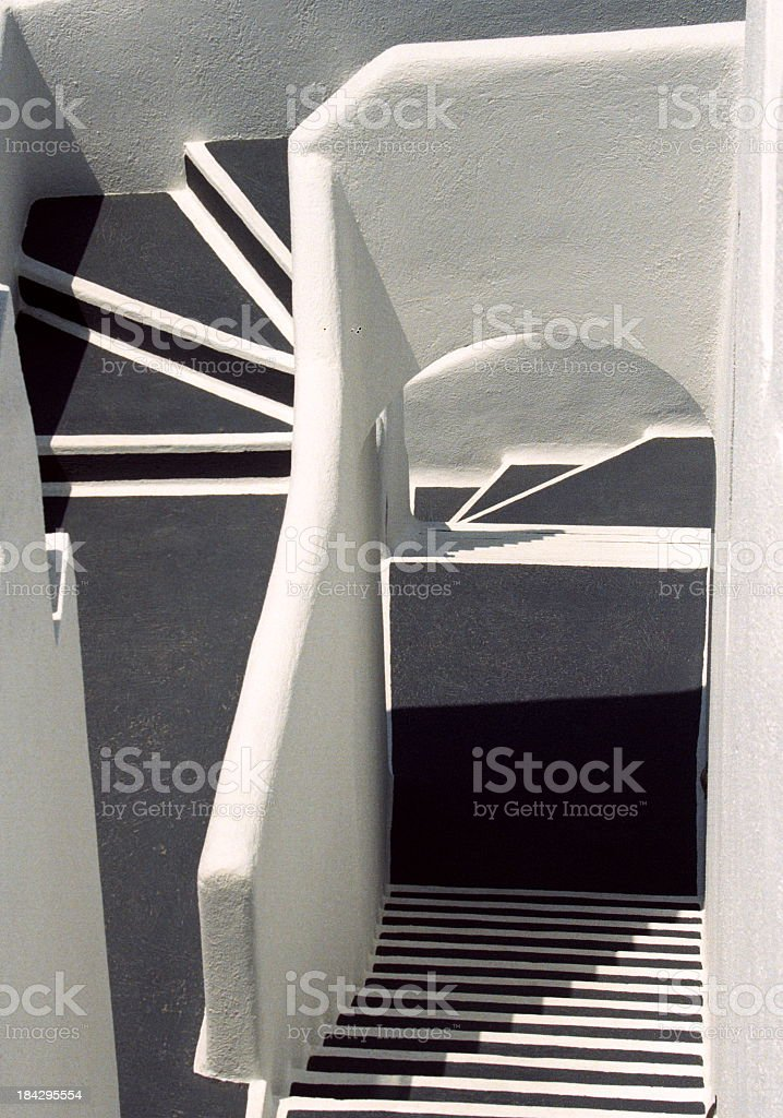 Pattern of Santorini apartment royalty-free stock photo