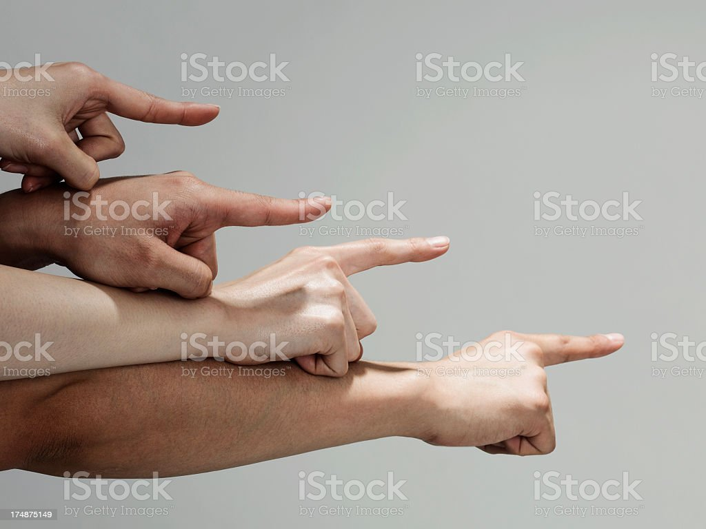pattern of staircase which is composed by the human's hand. stock photo