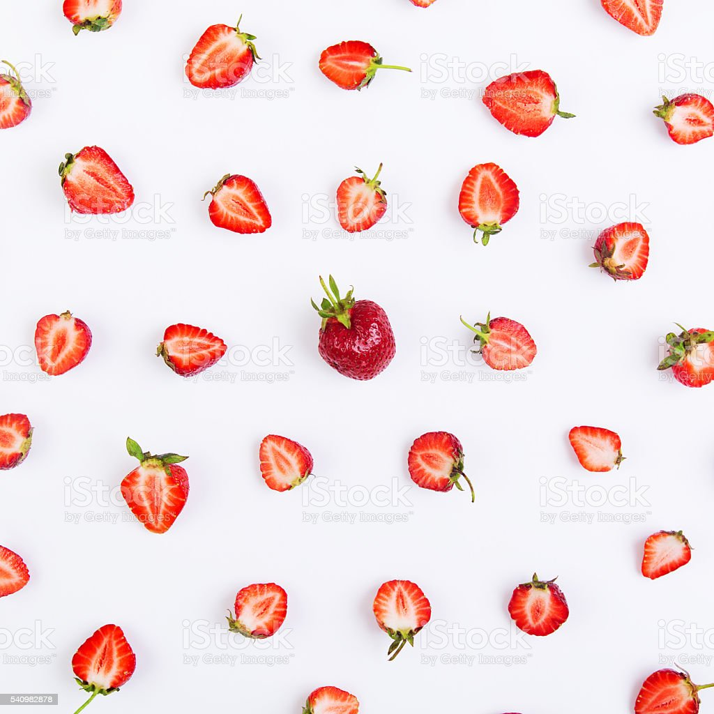 Pattern of strawberry stock photo