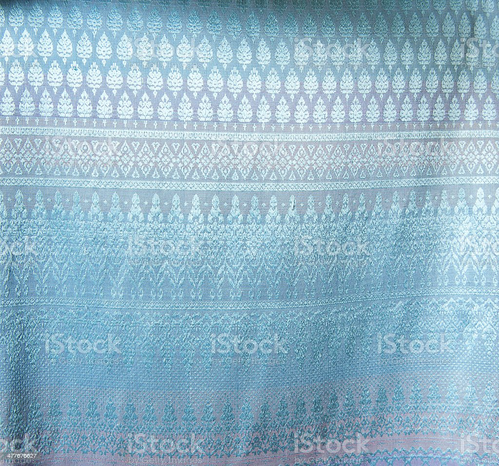 pattern of thai hand made fabric royalty-free stock photo