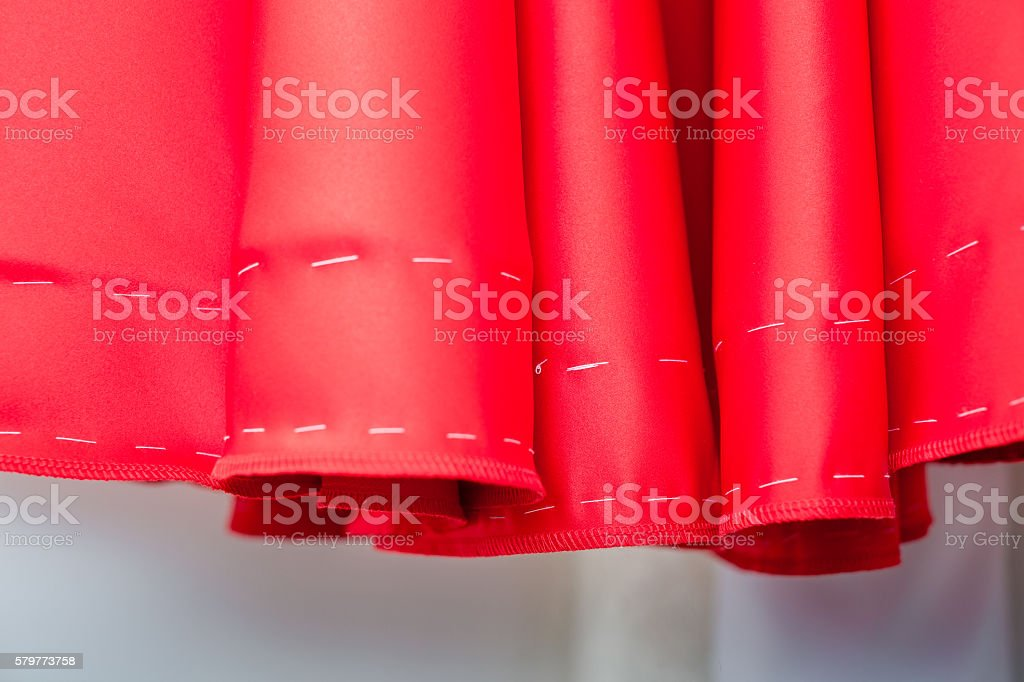 pattern of the red dresses stock photo