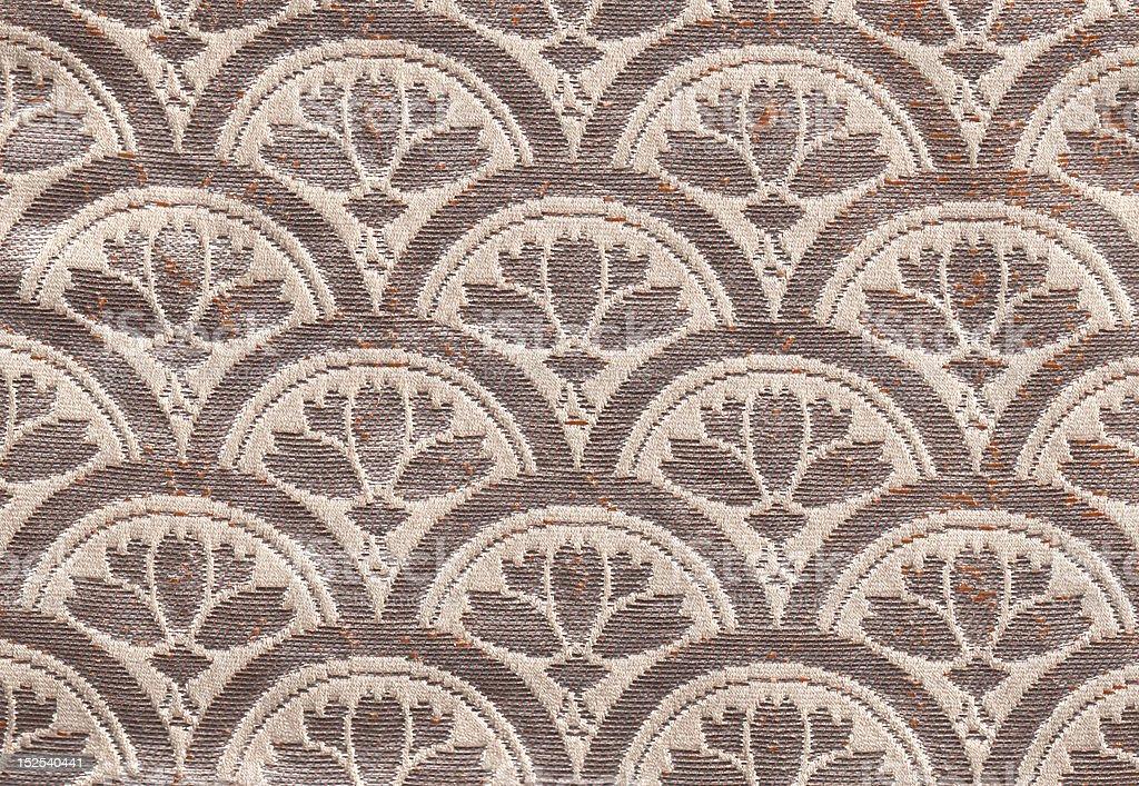 pattern of vintage Japanes obi oriental fabric stock photo