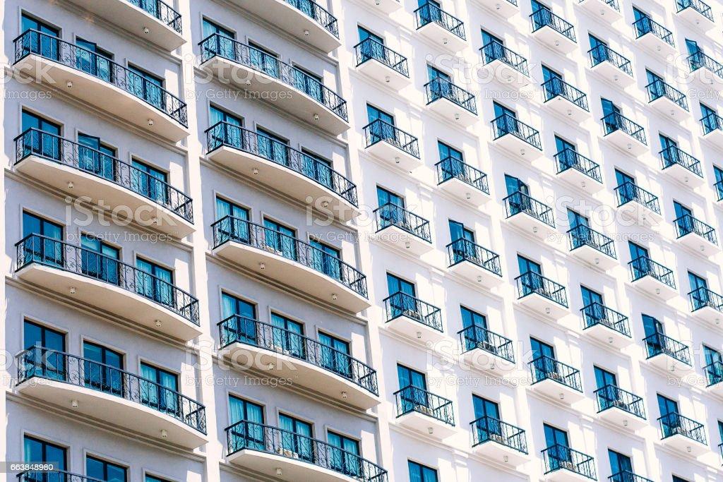 Pattern of windows building stock photo
