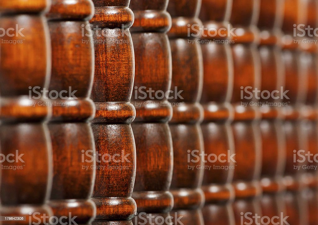 Pattern of wooden bars stock photo