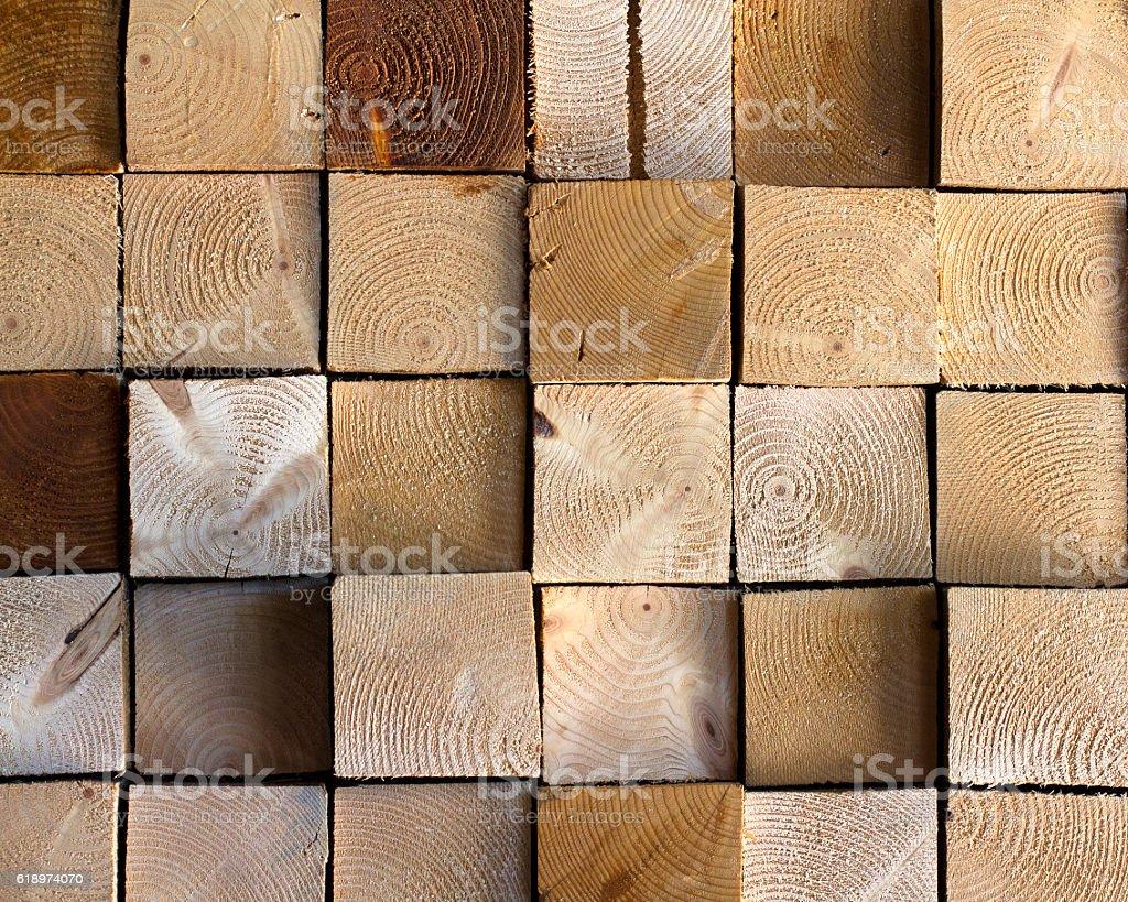 Pattern of wooden square blocks stock photo