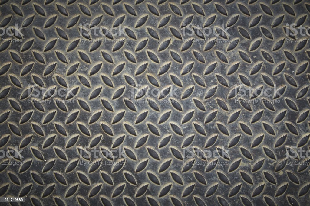 Pattern on iron plate stock photo
