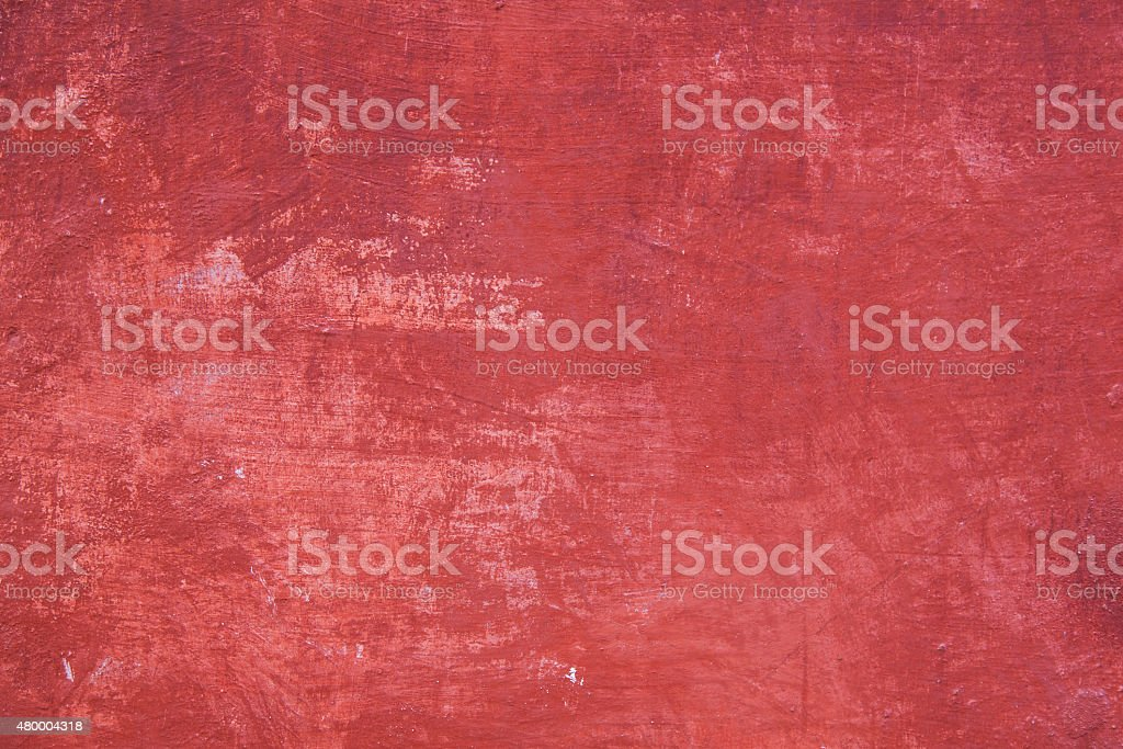 pattern on part of wall with red plaster stock photo