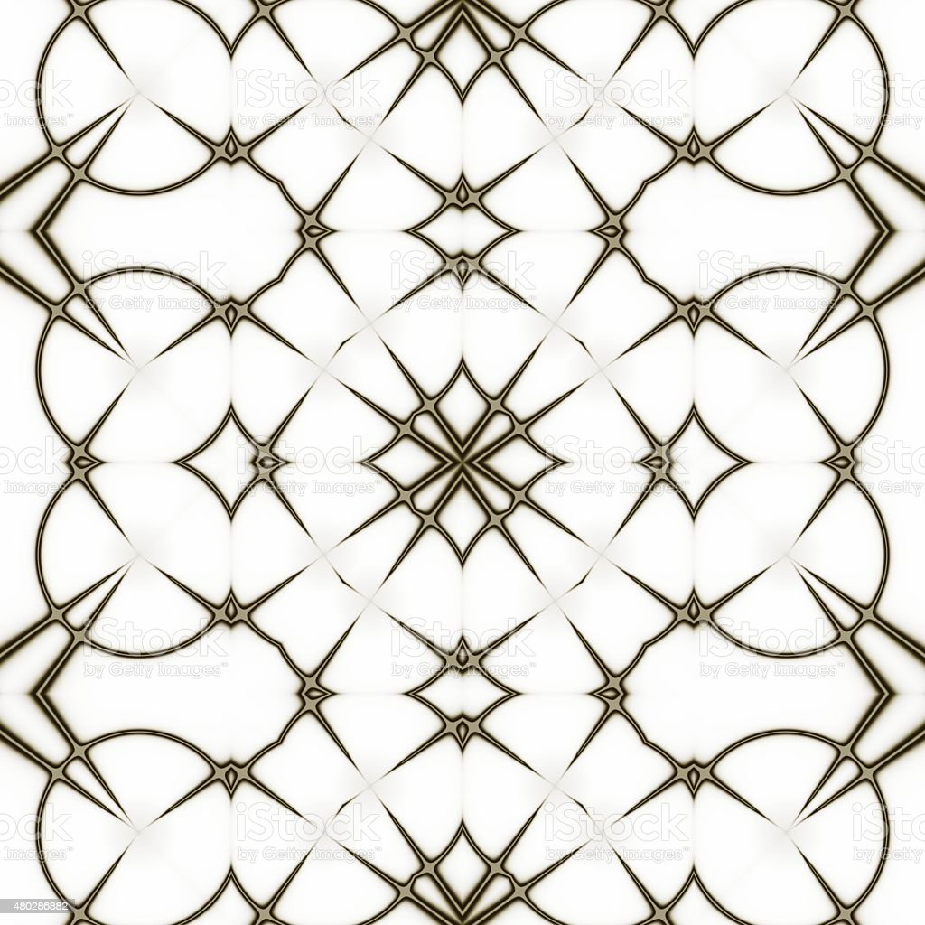 Pattern. Regular black and white curtain pattern aligned in shapes stock photo