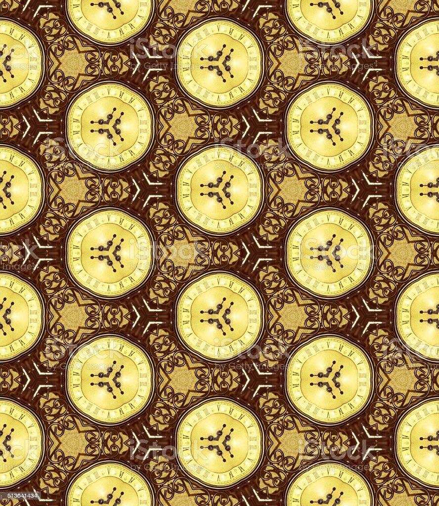 Pattern 'Strange hours' stock photo