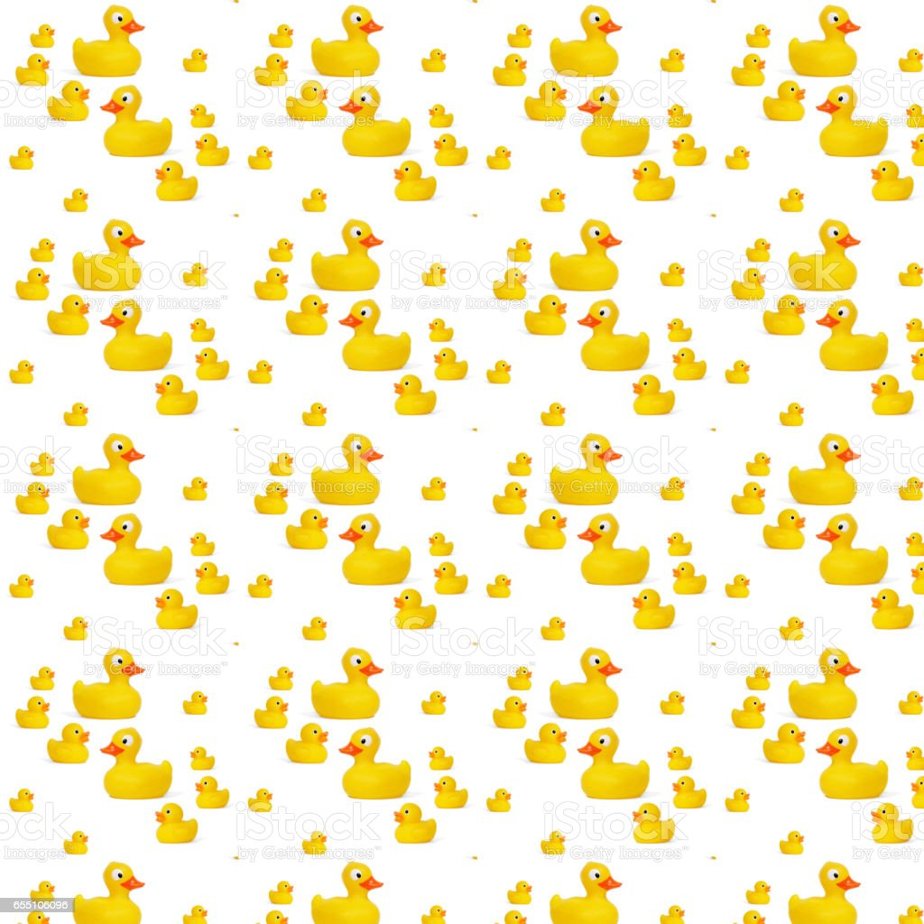 pattern yellow rubber duck stock photo