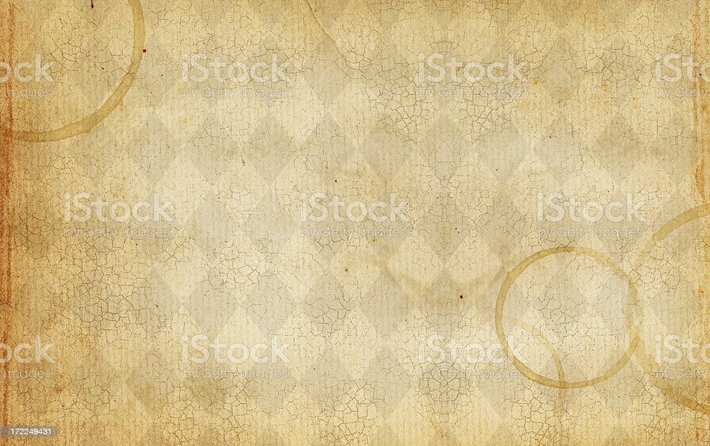 Patterned Background with Coffee Stains stock photo