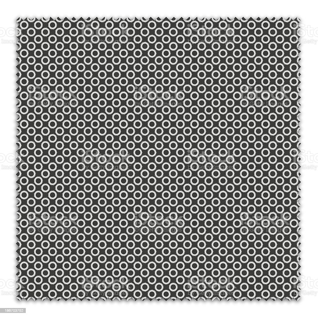 BW Patterned Fabric Swatch (Clipping Path) royalty-free stock photo