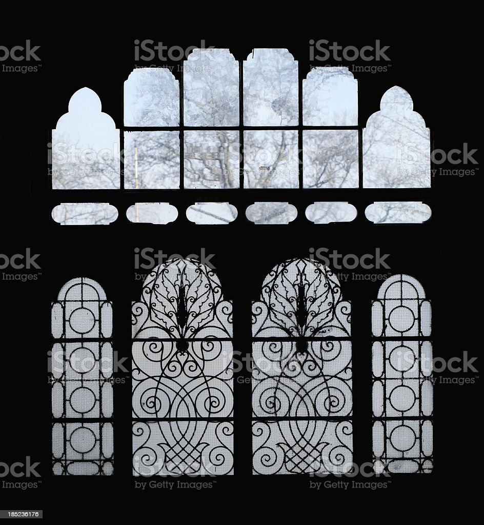 Patterned Glass royalty-free stock photo
