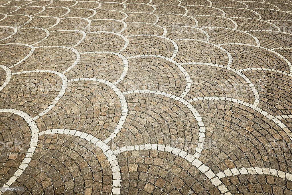 Patterned Stone Floor Area royalty-free stock photo
