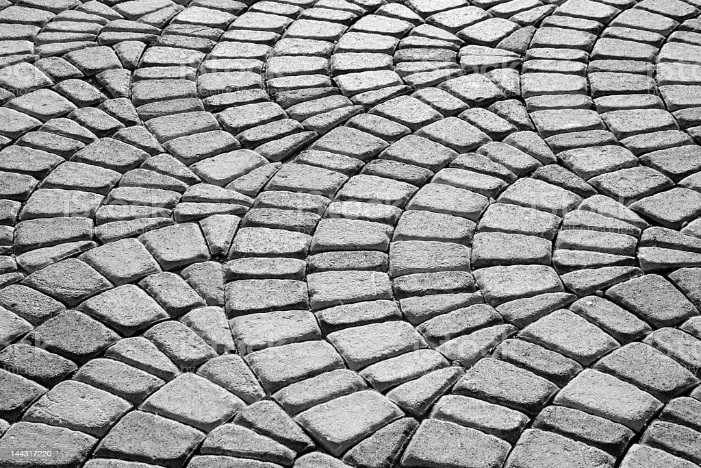 Patterned Walkway royalty-free stock photo