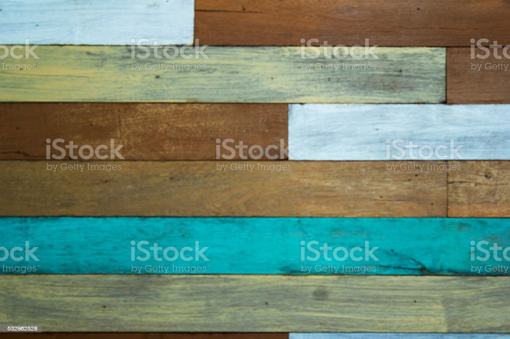 Patterned walls are made of wood. stock photo