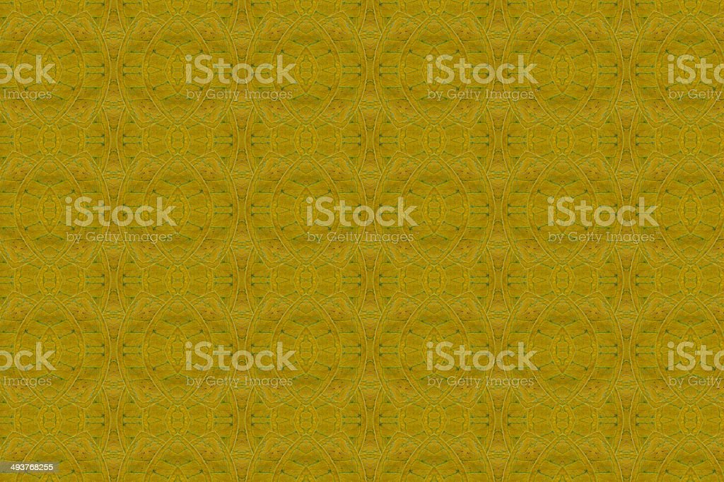 Patterns created from a yellow leaf stock photo