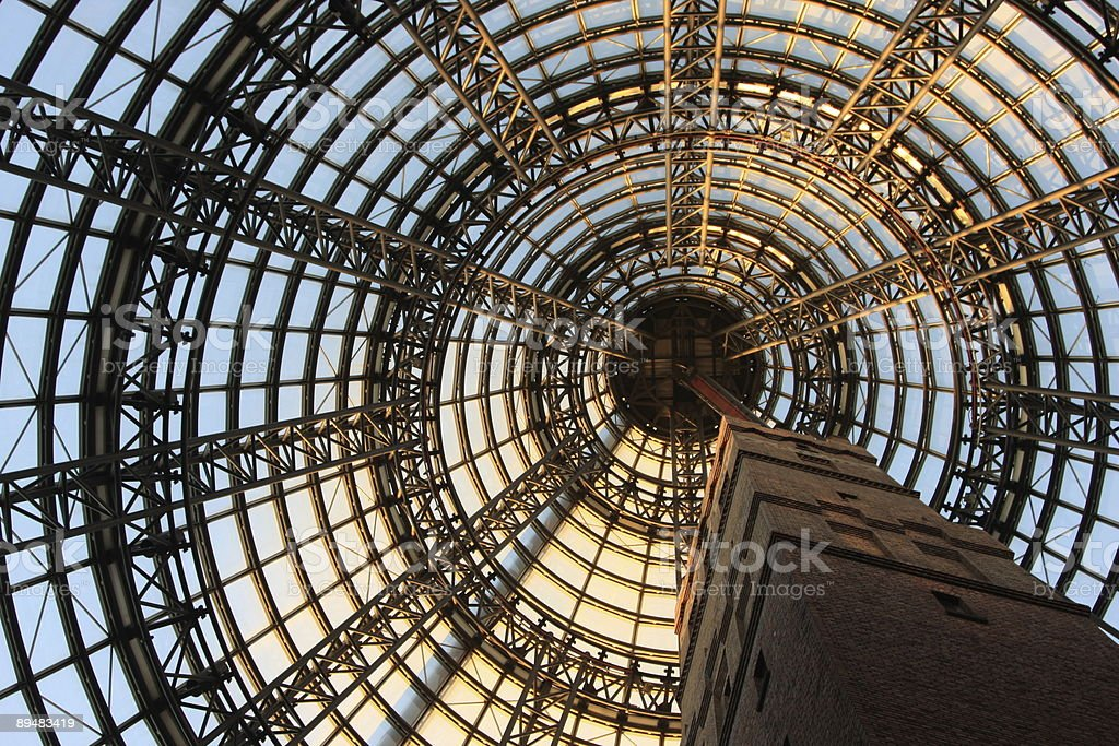 Patterns in the Ceiling Design stock photo