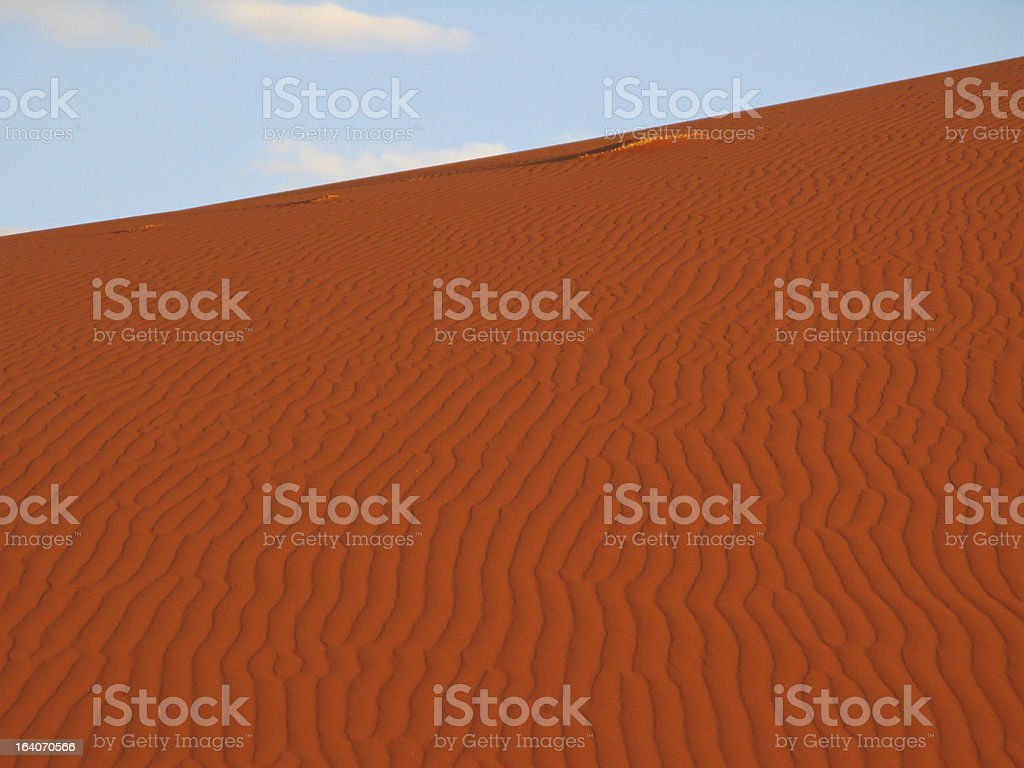 Patterns in the sand royalty-free stock photo