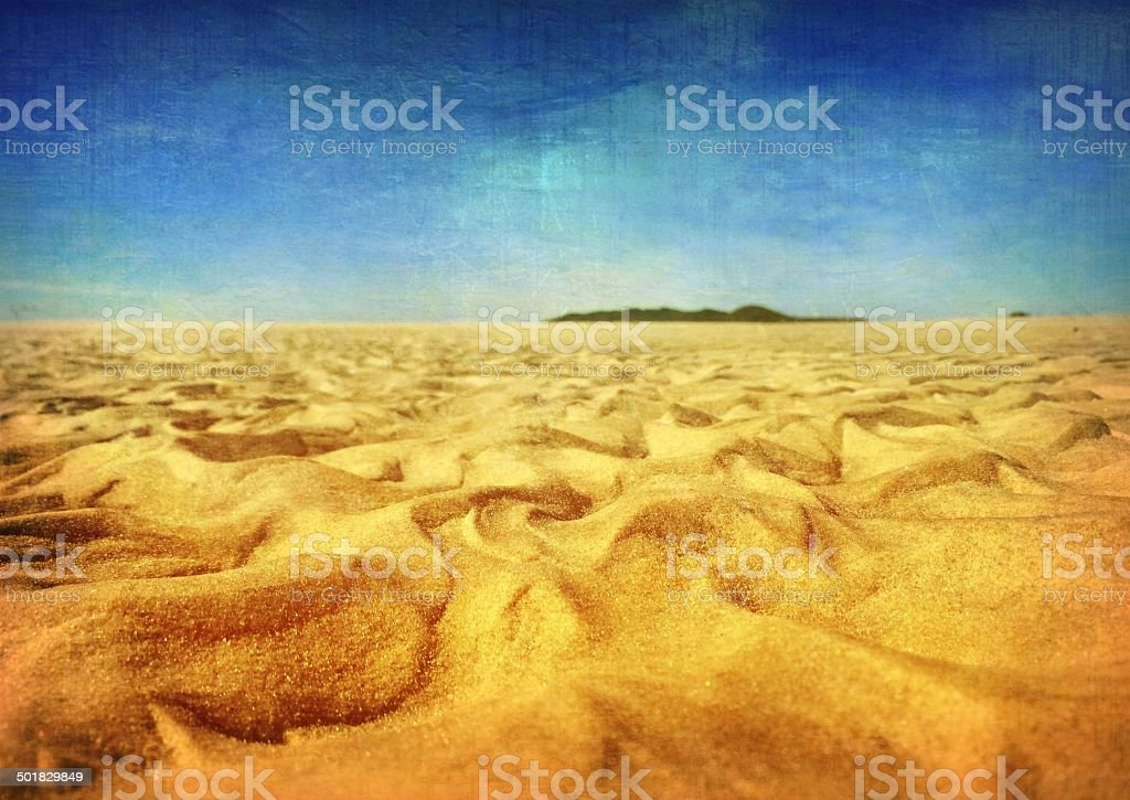 Patterns in the Sand stock photo